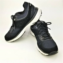 Skechers Women's 11906 Black Lace Up Low Top Athletic Running Shoes Size 8 - $35.27