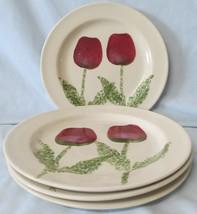 Hartstone Pottery Tulip Dinner Plate set of 4 - $64.24