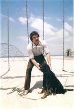 Tom Selleck w/ Dog on the Beach Candid 8x10 Photo 8X-456 - $14.84