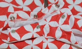 MudPie Monkey Shortall Red White Flower Geometrical Design Size 9 to 12 Months image 8