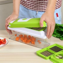12 In 1 Fruit And Vegetable Slicer Cutter Peeler And Dincer Multi Purpos... - €29,54 EUR