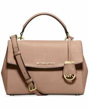 NWT MICHAEL MICHAEL KORS Ava Top Handle Leather Satchel Bag FAWN PINK AU... - $228.00