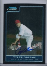 TYLER GREENE 2006 Bowman Chrome Prospects Auto/Autograph #BC225 (E2231) - $2.25