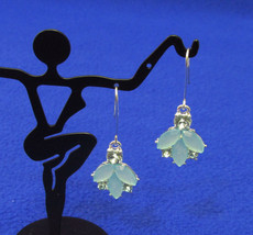 NEW Charter Club Blue Dangle Earrings Threader Rhinestones & Glass Stones - $10.88