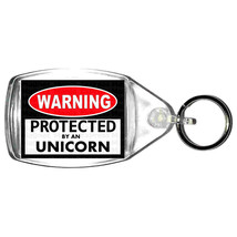 keyring double sided protected by unicorn fun, novelty, keychain key ring