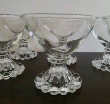 Vintage Anchor Hocking Berwick Boopie 6 Piece Sherbet Clear Glass, Desse... - $45.00