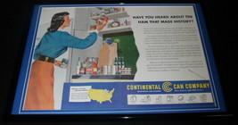 1951 Continental Can Company / Ham Framed 12x18 ORIGINAL Advertising Dis... - $65.09