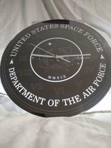 "HUGE 16"" U.S. Space Force Mirrored Wall Clock NASA Air Force Trump Astro... - $35.00"