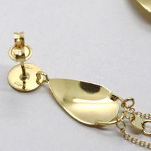 DROP EARRINGS YELLOW GOLD 750 18K, DROP, CHAIN ROLO AND DISCS PIATTI image 4