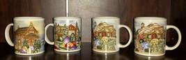 Set of 4 Vintage Ceramic Winter Holiday Gibson Coffee Mugs - $14.95