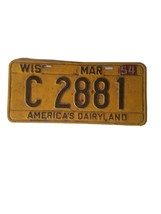 1953 54 Tags WIS Wisconsin license plate