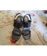 New Calvin Kline Sandals Dark Chestnut Brown Sz 8.5 M  Heel: 3 3/4 - $85.00