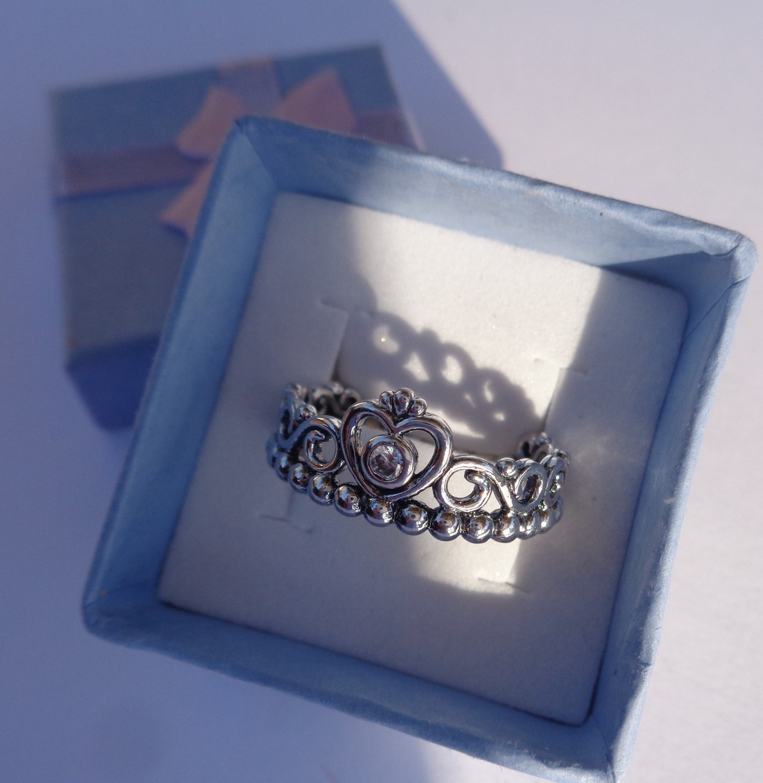 Sterling Silver 925 Princess Crown Ring NIB SZ 10