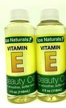 2 x Spa Naturals Vitamin E Beauty Oil  Smooth For Soft Skin 4 oz each  - $8.86