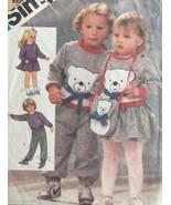 Simplicity Sewing Pattern 6562 Toddler 1-3 Skirt Pants Bag Bear Applique... - £4.19 GBP
