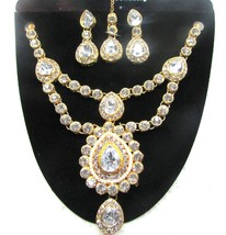 Indian Women Bollywood Party Wear Ethnic Gold Tone Fashion Jewelry Neckl... - $272,86 MXN