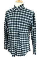 Ralph Lauren Polo Men's Custom Fit Long Sleeve Navy Blue Check Shirt Large - $24.74