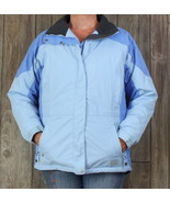 LL Bean Womens Jacket M size Blue Primaloft Winter Coat Light Pocket Zip... - $71.78