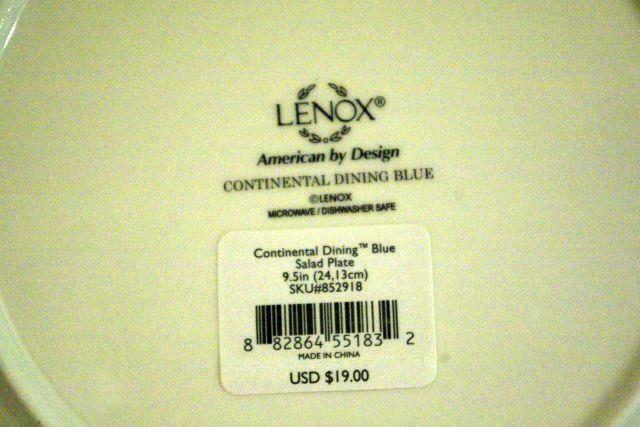 """Lenox 2019 Continental Dining Blue Salad Plate 9 1/2"""" New image 3"""