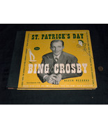 1946 Decca 78 RPM Bing Crosby Replacement St Patrick's Day Record Album ... - $12.85