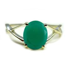 Natural Green Onyx Gemstone Sterling Silver Ring Oval Cut Birthstone  Si... - £6.57 GBP