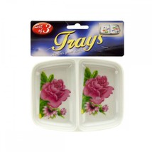 Double-sided Rose Print Sauce Trays Set GR037 - $68.07