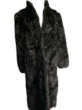 Vintage Full Length Mink Fur Coat Black Made In Greece Medium Women - $395.99