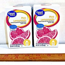 Great Value Pink Lemonade (LOT of 2) Sugar Free Low Calorie Drink Mix - $12.85