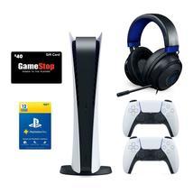 PlayStation 5 Digital Edition White Controller, Razer Kraken Headset & PS Plus - $984.98