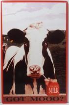 Got Moo Milk Cow Metal Sign - $14.95