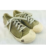 KEEN Shoes Sneakers Womens 7.5 US Lowtop Green Brown Lace Up Rubber Toe ... - $37.95