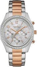 Caravelle New York 44L148 Ladies Gilt And Red Bangle Watch - £235.64 GBP