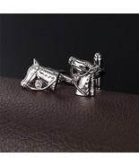 Men Cuff Links Modern Design OX Cow Head Shirt Accessories 1 Pair 2 Pcs... - $32.91