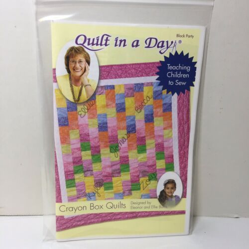 "Crayon Box Quilts Quilt Pattern Quilt in a Day 63"" x 71"" - $11.64"
