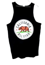 ALSTYLE CALIFORNIA ALL STAR BLACK TANK TOP MEN'S SIZE XL - £4.31 GBP