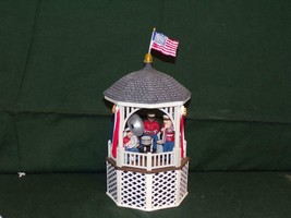 "Department 56/DEPT.56 - ""STARS AND STRIPES FOREVER"" GAZEBO MUSIC BOX #55502 - $21.56"