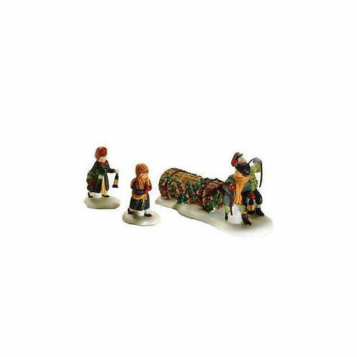 Primary image for Dept 56 Dickens Snow Village  Bringing Home the Yule Log 55811