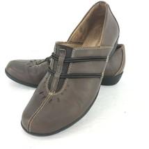Naturalizer Nasan Women Leather Size 8 Brown Slip On Loafer Shoe Low Heel  - $39.59