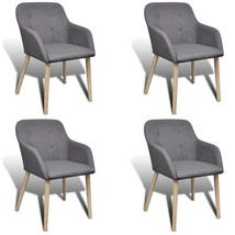 vidaXL 4 Fabric Dining Chairs with Armrest Dark Gray - $321.99