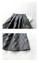 Lady Yellow Midi Party Skirt Spring Plus Size Full Pleated Skirt w. Wing Pattern image 14