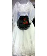 Veracruz Womens XS-XXL Folklorico Fiesta Dance Traditional Suit Set White Lace  - $102.00 - $118.00