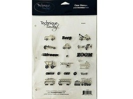 """Technique Tuesday Clear Cling Stamp Set """"Vroom"""" #ISVM"""