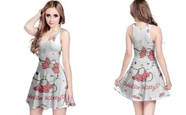 Strawberry hello kitty reversible dress for women thumb200