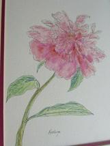 Vintage Original Floral Ink Drawing by Kathryn 53010 - $29.69