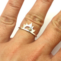 Silver Sun Ring with Birthstone - $42.00