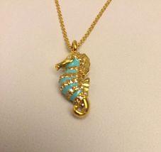New Kate Spade Paradise Found Seahorse Mini Pendant Short Necklace $58 - $31.00