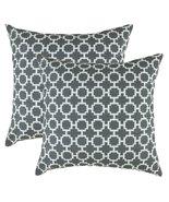 TreeWool, Cotton Slub Fretwork Accent Decorative Throw Pillowcases (2 Cu... - $17.99