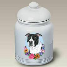 Pit Bull Terrier Black & White Treat Jar - $44.95