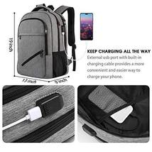 Laptop Backpack,Business Travel Slim Durable Laptops Backpack with USB Charging  image 3
