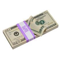 PROP MOVIE MONEY - New Style $20 Full Print Prop Money Stack - $14.00